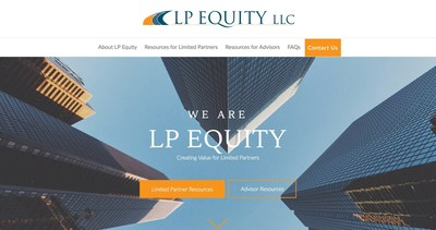 Front Page of the New LP Equity Website