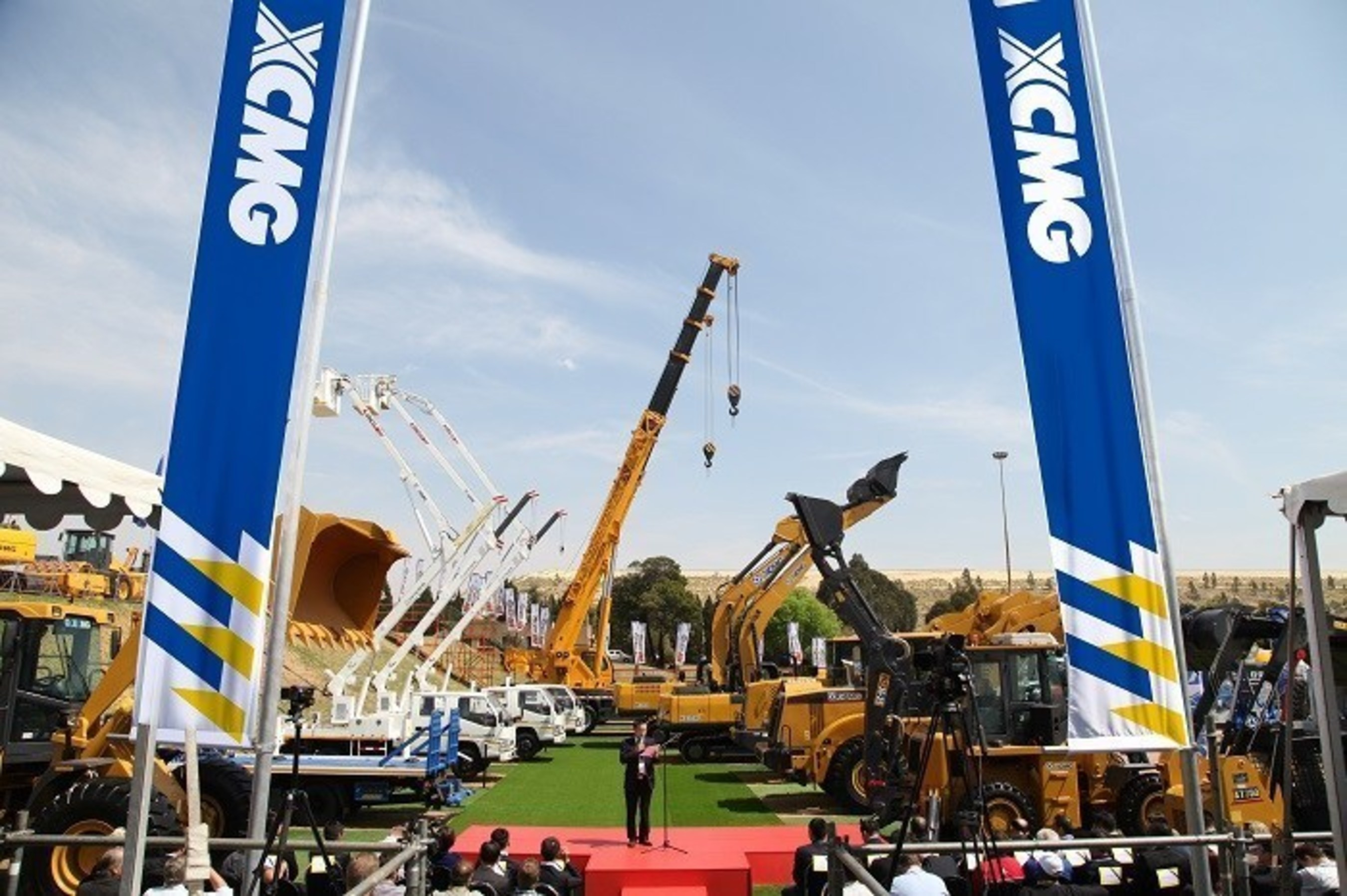 XCMGs Vorzeigeprodukte auf der Bauma Africa in Johannesburg vorgestellt