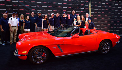 A 1962 hand-built Corvette donated to Carrington Charitable Foundation raised funds for wounded Veterans.