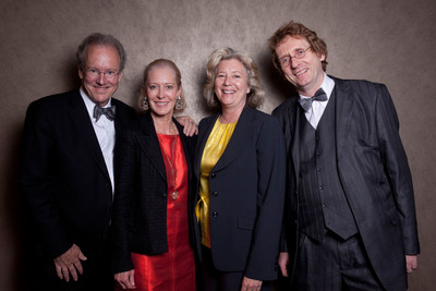 From left, Cradle to Cradle Products Innovation Institute co-founder William McDonough, board member Wendy Schmidt, president Bridgett Luther, co-founder Michael Braungart.  (PRNewsFoto/Cradle to Cradle Products Innovation Institute)