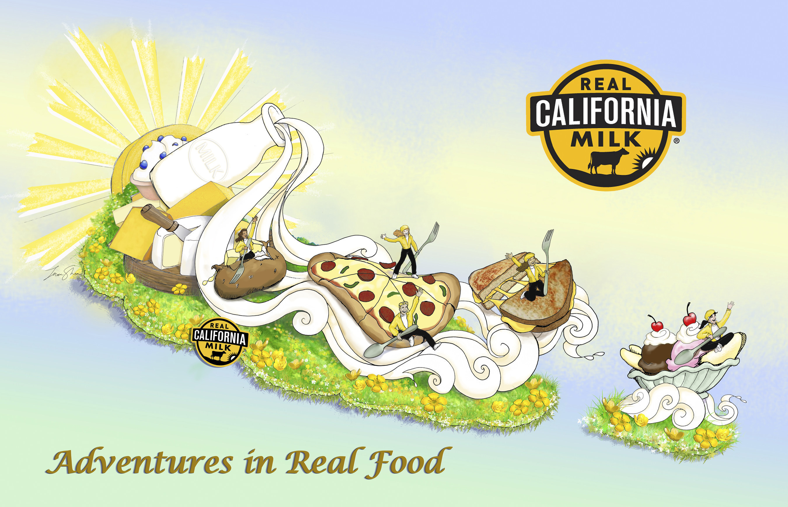 California Milk Advisory Board's Rose Parade(R) Float