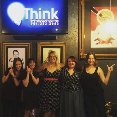 QQuest Escape Rooms (Pompano Beach, FL) and Think Escape Games (Fort Lauderdale, FL) continue to provide companies and organizations with innovative corporate team-building activities. Conceptual Communications, pictured here, recently experienced an escape room at the Think Escape Games location for a team-building outing. (Left to right: Amy Goldberg, Laurie Menekou, Joyce Mealey, Jessica Chesler, and Andrea Richard)