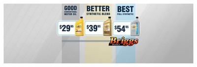 Briggs Auto guarantees 100% customer satisfaction and currently is offering reduced oil change prices for summer. (PRNewsFoto/Briggs Auto)