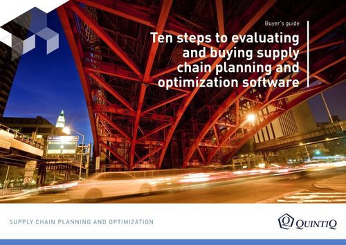 Quintiq Announces Publication of Buyer's Guide for Supply Chain Planning and Optimization Software