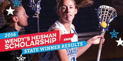 The Wendy's High School Heisman announces the 2016 State Winners. For the first time, State Winners will receive a $1,000 college scholarship. Competing against hundreds of other student athletes from across the United States, these seniors embody the Wendy's High School Heisman values, qualifying them to compete for the next level of National Finalists and stay in the running for the title of National Winners and a $10,000 college scholarship. Visit www.WendysHeisman.com to learn more about the program...