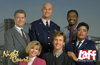 The popular series Night Court returns to television on LAFF, the country's first-ever, over-the-air broadcast television network devoted to comedy around-the-clock, starting Monday, January 4, 2016.  LAFF will present back-to-back episodes of Night Court weeknights from 8:00-9:00 p.m. and again at 10:00-11:00 p.m., with The Drew Carey Show in between from 9:00-10:00 p.m. (All Times Eastern.) Visit LAFF.com for local channel location.