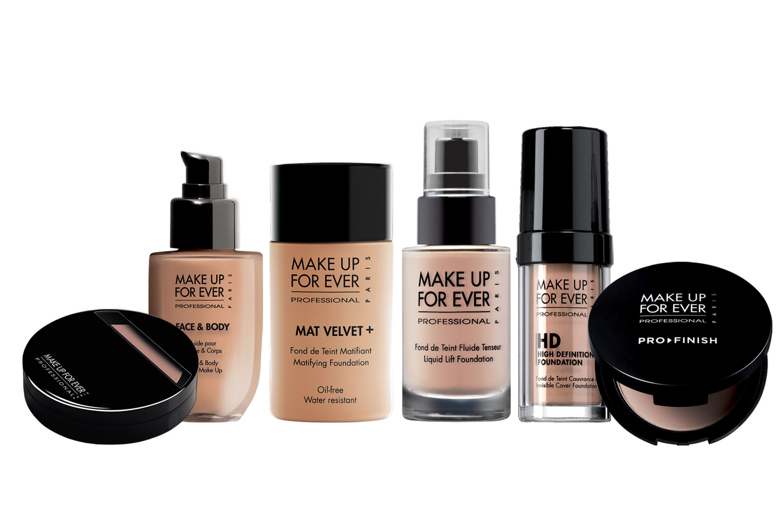 MAKE UP FOR EVER's broad range of foundations. (PRNewsFoto/MAKE UP FOR EVER) (PRNewsFoto/MAKE UP FOR EVER)