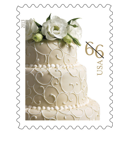 Wedding Cake Stamp Adds Bliss to Nuptial Invitations