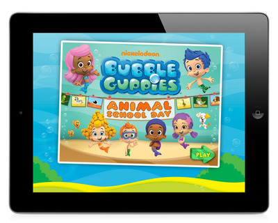 Brand-New Educational Mobile App Bubble Guppies: Animal School Day! Hits Top Spots.  (PRNewsFoto/Nickelodeon)