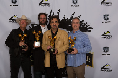 "Joe Mantegna, star of Outdoor Channel's ""MidwayUSA's Gun Stories"" and his team, winners of Best Educational, Conservation and Instructional Golden Moose Award.  (PRNewsFoto/Outdoor Channel)"