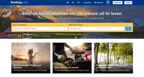 Booking.com biedt nu bestemmingen op maat aan met de lancering van 'Zoeken op Passie'
