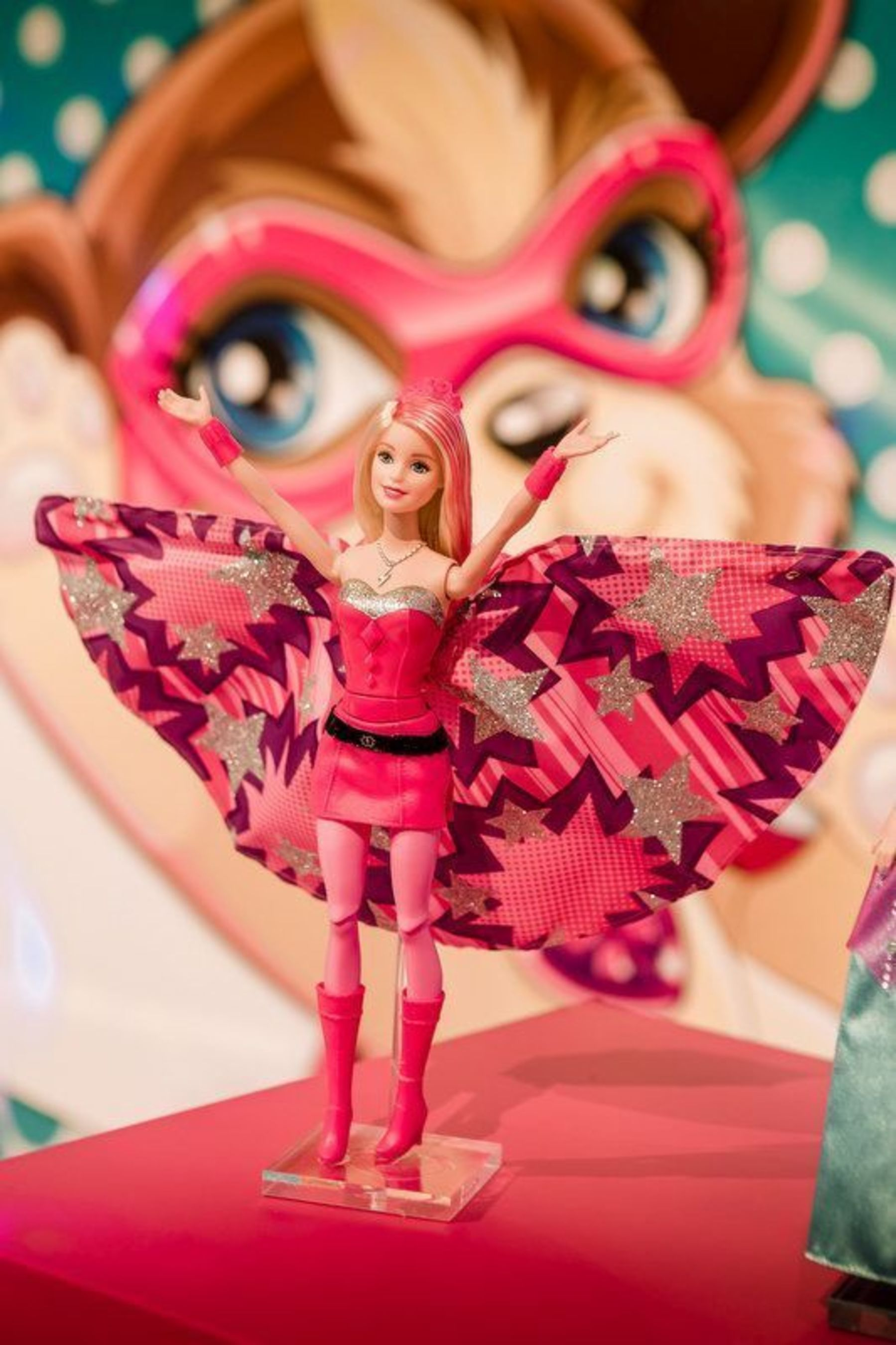 """For the First Time in History, Barbie(TM) Makes Superhero Debut with """"Barbie(TM) in Princess Power"""" at Nuremberg Toy Fair 2015 (PRNewsFoto/Mattel)"""