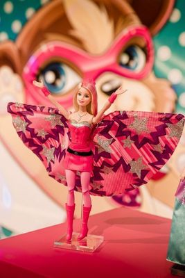 "For the First Time in History, Barbie(TM) Makes Superhero Debut with ""Barbie(TM) in Princess Power"" at Nuremberg Toy Fair 2015 (PRNewsFoto/Mattel)"