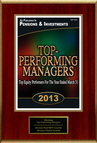 """iSectors Selected For """"Top-Performing Managers"""". (PRNewsFoto/iSectors) (PRNewsFoto/ISECTORS)"""