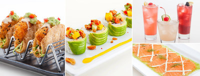 "Limited time menu offerings at RA Sushi: ""RA""ckin' Shrimp Tacos, Pacific Roll, three new drinks, Salmon Carpaccio"