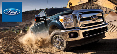 The capable Ford F-250 is available in Davenport, IA.  (PRNewsFoto/Dahl Ford)