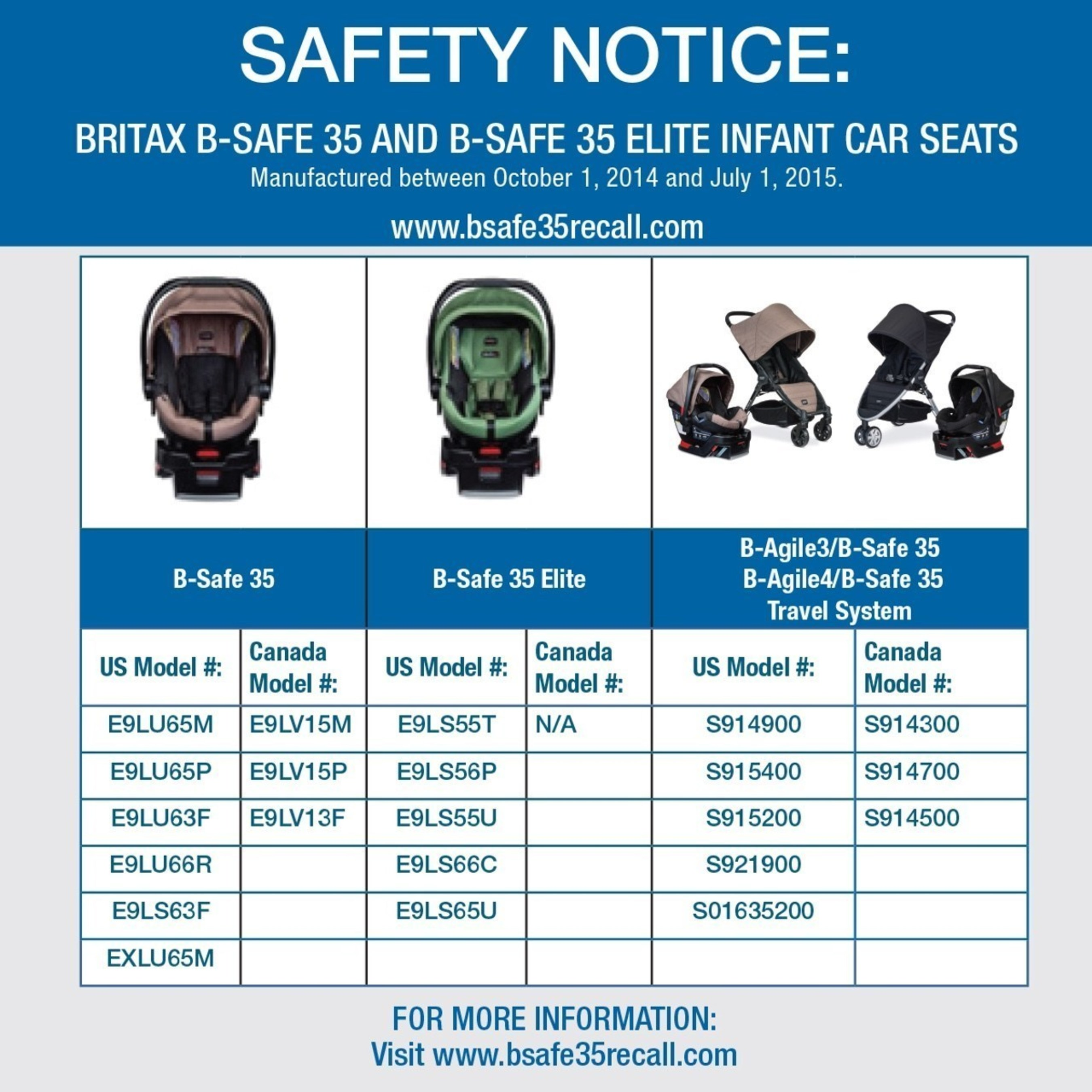 B Safe 35 And Elite Infant Car Seat Models