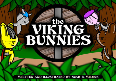 Press Art for The Viking Bunnies (Captain Fuzzy, Steve, Thora, and Lars).  (PRNewsFoto/Smiley Crew Productions)
