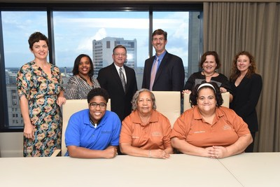 Last week, representatives of the Faubourg Lafitte Tenants' Association were awarded a $16,000 Partnership Grant Program check from IBERIABANK and the Federal Home Loan Bank of Dallas (FHLB Dallas). The funds will be used for organizational capacity-building, stipends, transportation costs, and special events.
