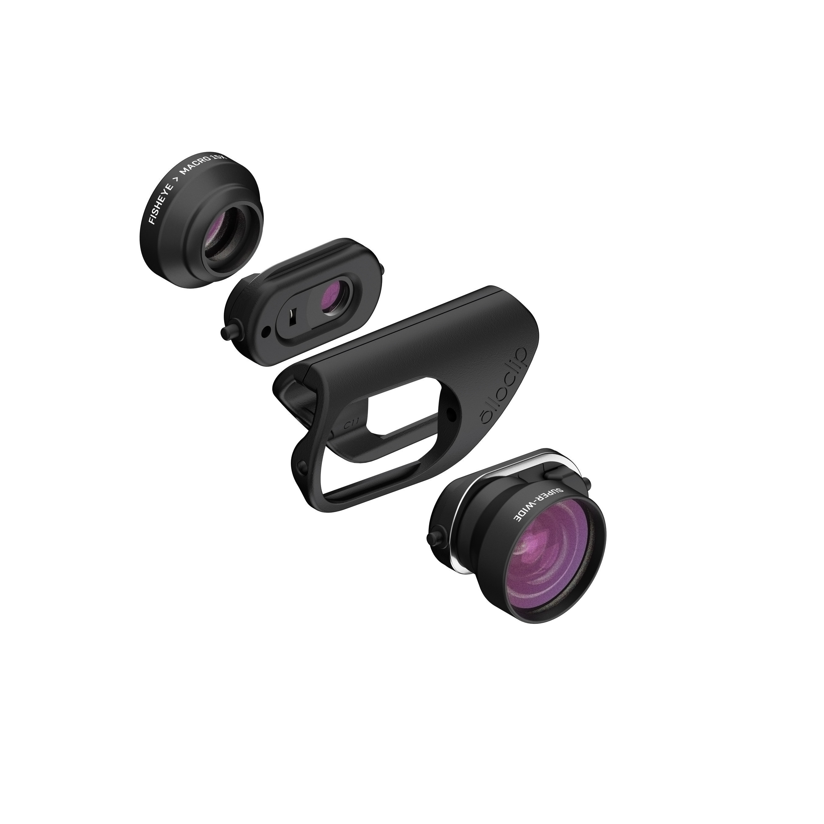 olloclip's newly designed mobile photography lens sets for iPhone 7 and 7 Plus feature new premium multi-element optics, the new Connect(TM) interchangeable lens system and an innovative hinged lens base keeping the lens flush with the camera for improved optical performance while allowing compatibility with most screen protectors. This new design delivers premium optics in the simplest, quickest and most versatile mobile lens system ever created.