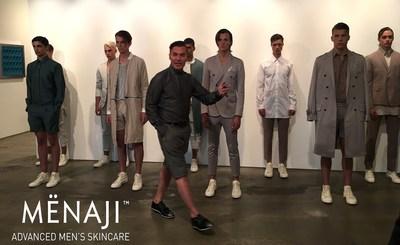 Loris DIRAN debuts SS17 Collection during NYFW:MENS using MENAJI Advanced Men's Skincare.