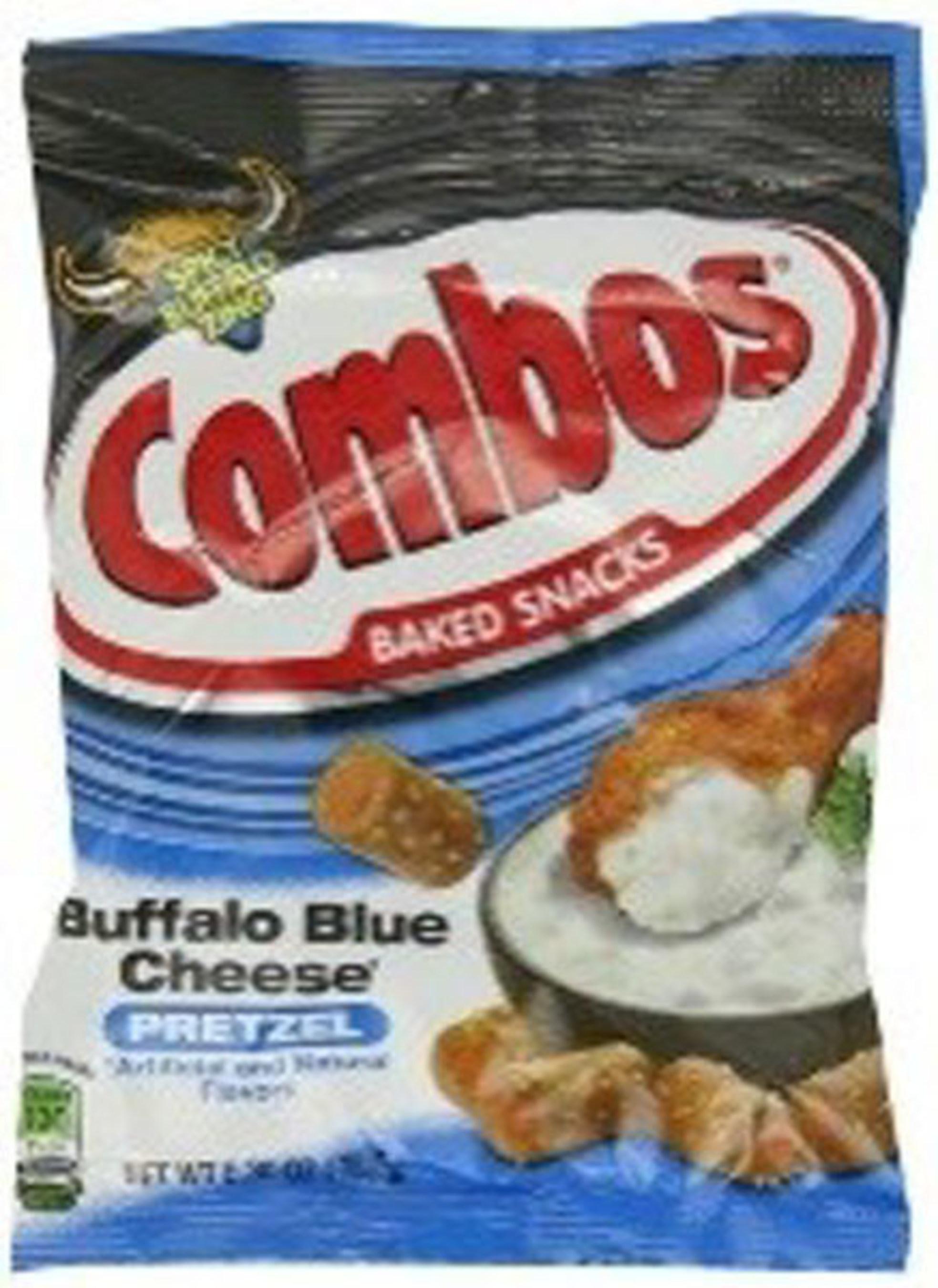 COMBOS BUFFALO BLUE CHEESE PRETZEL - FAMILY PEG PACK - 6.3 OZ - 12/CA