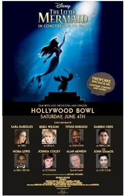 Disney The Little Mermaid in Concert Live To Film at the Hollywood Bowl Saturday, June 4