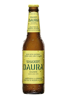 From the brewer of Daura Damm, the World's most awarded crafted to remove gluten beer, now introducing: Daura Shandy, the first imported lager & lemonade crafted to remove gluten* in the US. *Product fermented from grains containing gluten and crafted to remove gluten. The gluten content of this product cannot be verified and this product may contain gluten.