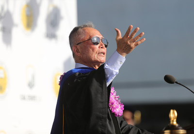 Actor and activist George H. Takei received an honorary Doctor of Humane Letters Friday during Commencement. (Credit: J. Emilio Flores/Cal State LA)