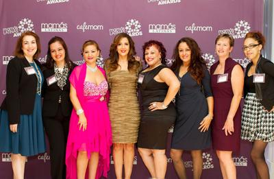 MamasLatinas 2012 Awards winners and host Maria Canals-Barrera. (From left to right): Vashti Acosta, Eliana Tardio Hurtado, Patricia Gracia, Maria Canals-Barrera, Violeta Galagarza, Dawn Diaz, Margaret Grover-Roos, Sherise Martinez.  (PRNewsFoto/CafeMom)