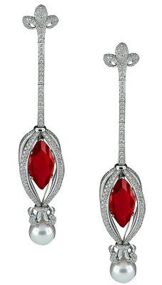 AVAKIAN Jewellery Marquise Ruby Earrings Dita Von Teese