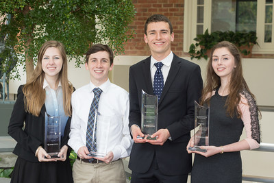Scholarship winners (left to right) Hailey Guit, Brian Musliner, Steffen Cornwell and Holly Mann. Not pictured: Haley Crane, Aaron Fishkind and Emily Sturm
