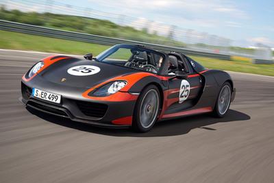 Porsche to Showcase 918 Spyder and 50th Anniversary Edition 911 at Historic Monterey, Calif. Auto Week.  (PRNewsFoto/Porsche)