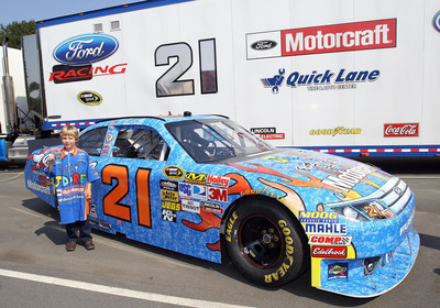 Eight Year Old S Fired Up For A Cure Paint Scheme