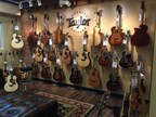 Taylor Guitar room at Sam Ash Hollywood.
