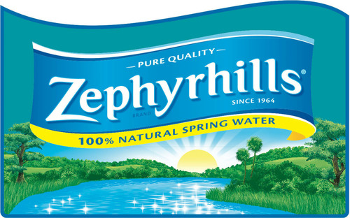 Zephyrhills(R) Brand 100% Natural Spring Water logo.  (PRNewsFoto/Nestle Waters North America)
