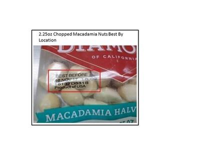 2.25oz Chopped Macadamia Nuts Best By Location