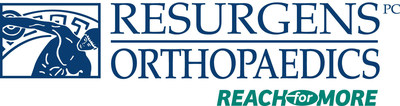 """This is the logo for Resurgens Orthopaedics, which allows its patients to """"Reach for More."""""""