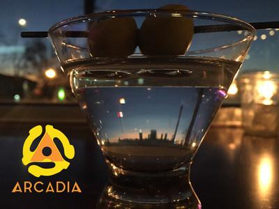Arcadia Martini with Atlanta Skyline