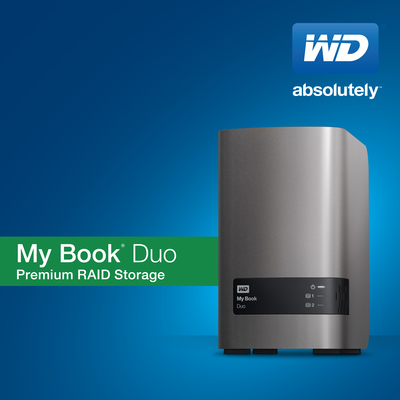 WD's My Book(R) Duo Offers Superior Performance, High Capacity, And Comprehensive Data Protection. (PRNewsFoto/WD)
