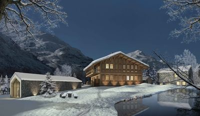 Chalet Winterhorn is one of 28 pre-designed homes available at Andermatt Swiss Alps, although all villas are fully customizable to their owners taste.