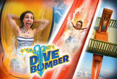 Six Flags White Water in Marietta, Georgia will make an enormous splash in 2015 with the addition of Dive Bomber, an electrifying capsule water slide towering 10 stories tall, with a nearly 90 degree drop and speeds of more than 40 miles per hour. Dive Bomber will take the existing Cliffhanger attraction to new heights and open in the spring of 2015.