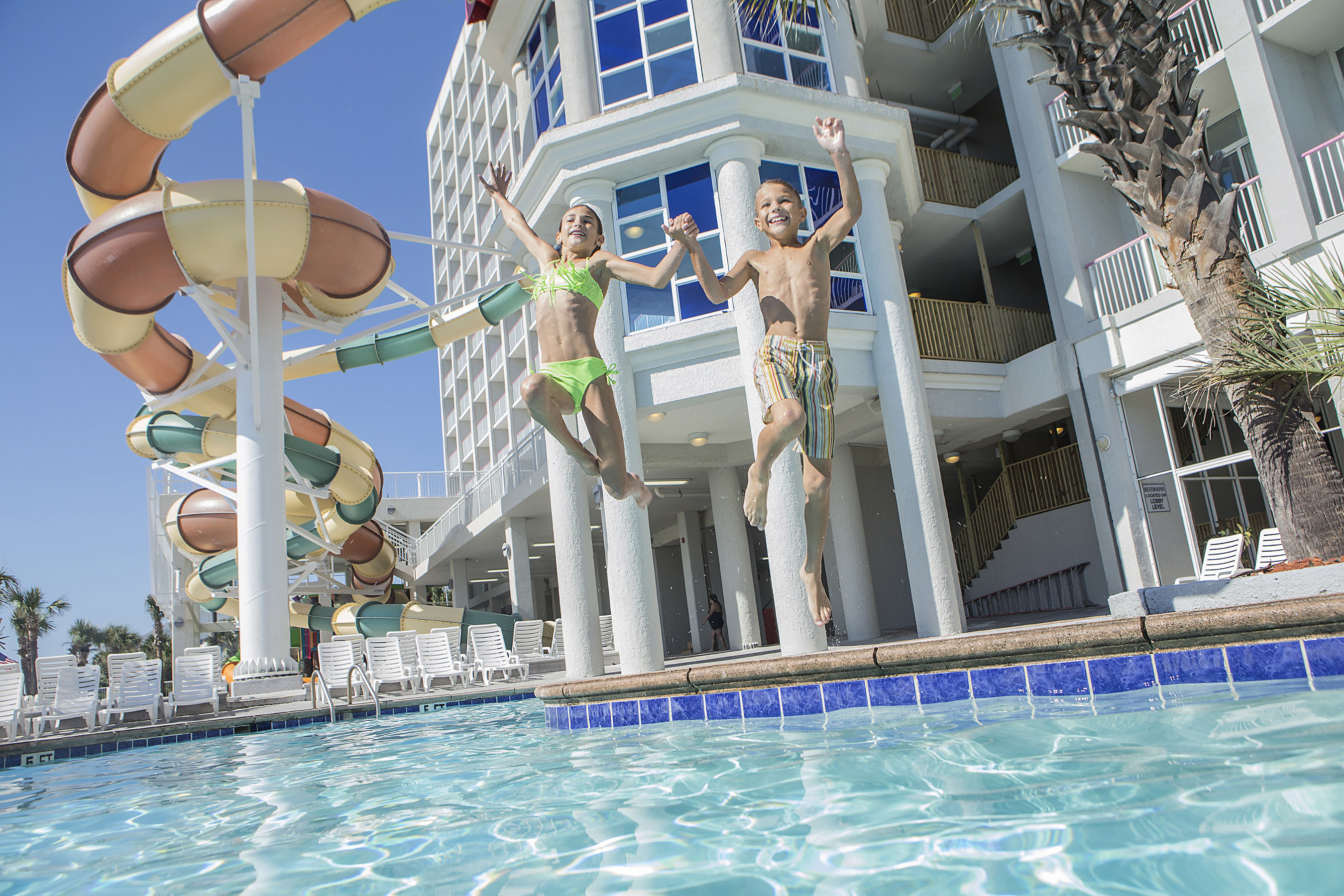 Several oceanfront Myrtle Beach resorts are offering additional freebies on top of already low rates including the oceanfront Crown Reef Beach Resort and Waterpark.