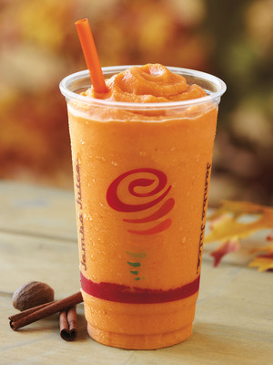 Jamba Juice Celebrates Autumn with the Return of the Popular Pumpkin Smash® Smoothie--Now In Stores for a Limited Time Only.  (PRNewsFoto/Jamba Juice Company)