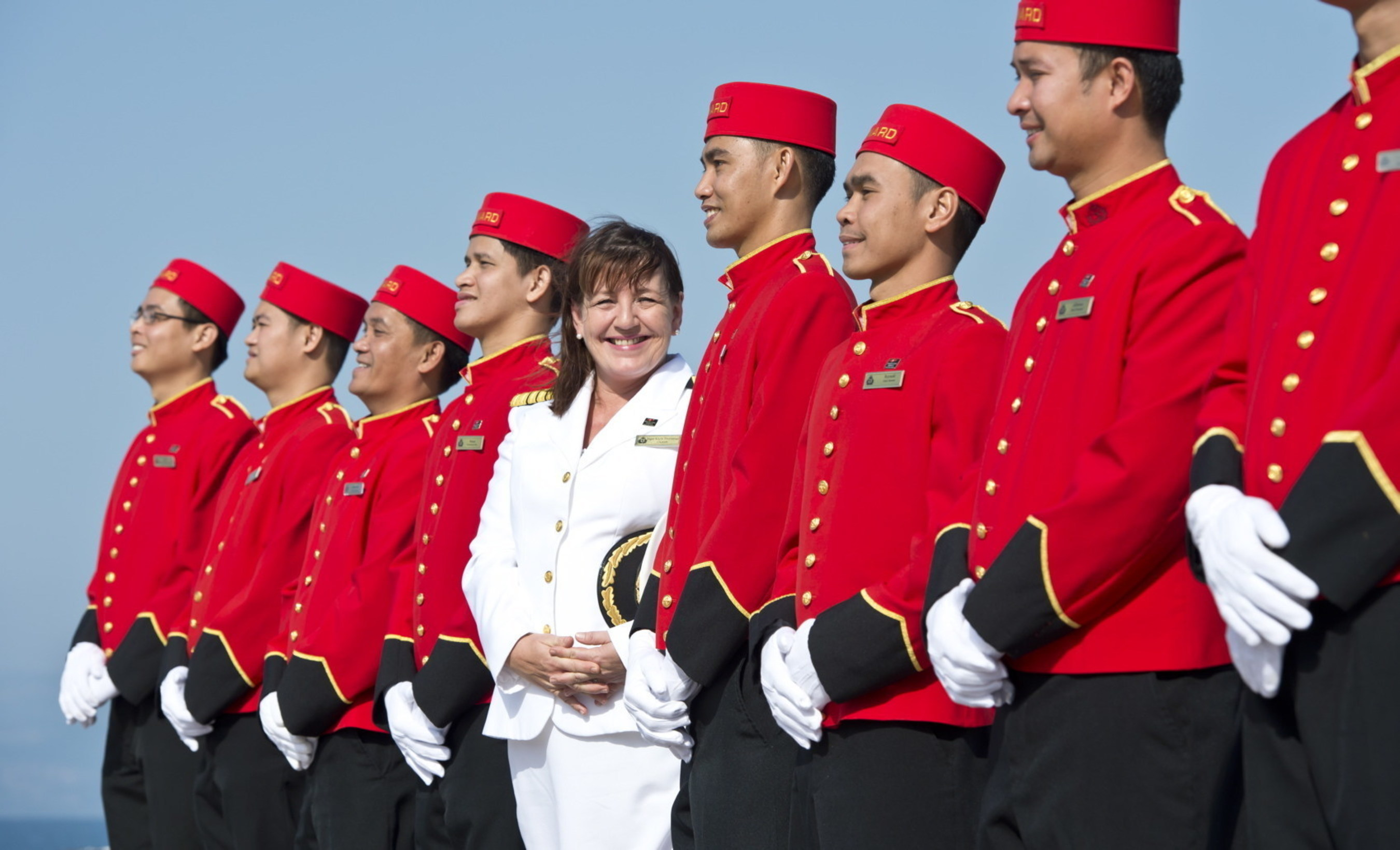 Captain Inger Klein Thorhauge, who helms Cunard ships, is among women with prominent roles at Carnival Corporation. Photo courtesy of Cunard.