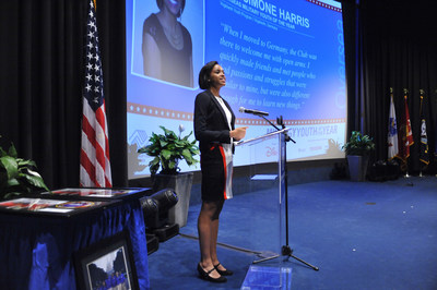 RianSimone H. addresses the crowd after being named Boys & Girls Clubs of America's (BGCA) National Military Youth of the Year in Washington, D.C.