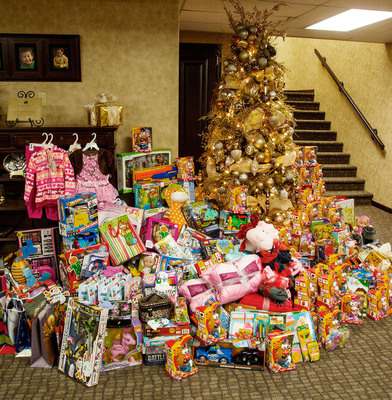 Melaleuca employees donated presents to 300 children through The Salvation Army's Angel Giving Tree program. Pictured are some of the gifts that will bring holiday spirit to Idaho children who otherwise might not have had anything to open this Christmas. (PRNewsFoto/Melaleuca)