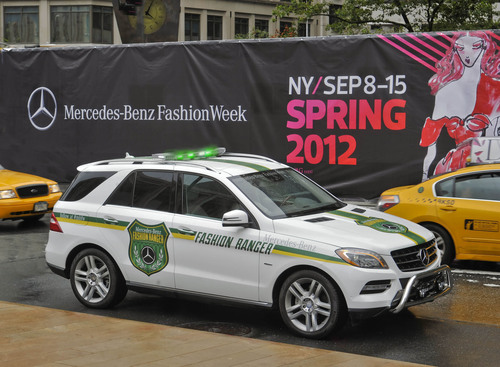 Mercedes-Benz Fashion Ranger Navigates Fashion Week Jungle.  (PRNewsFoto/Mercedes-Benz USA)