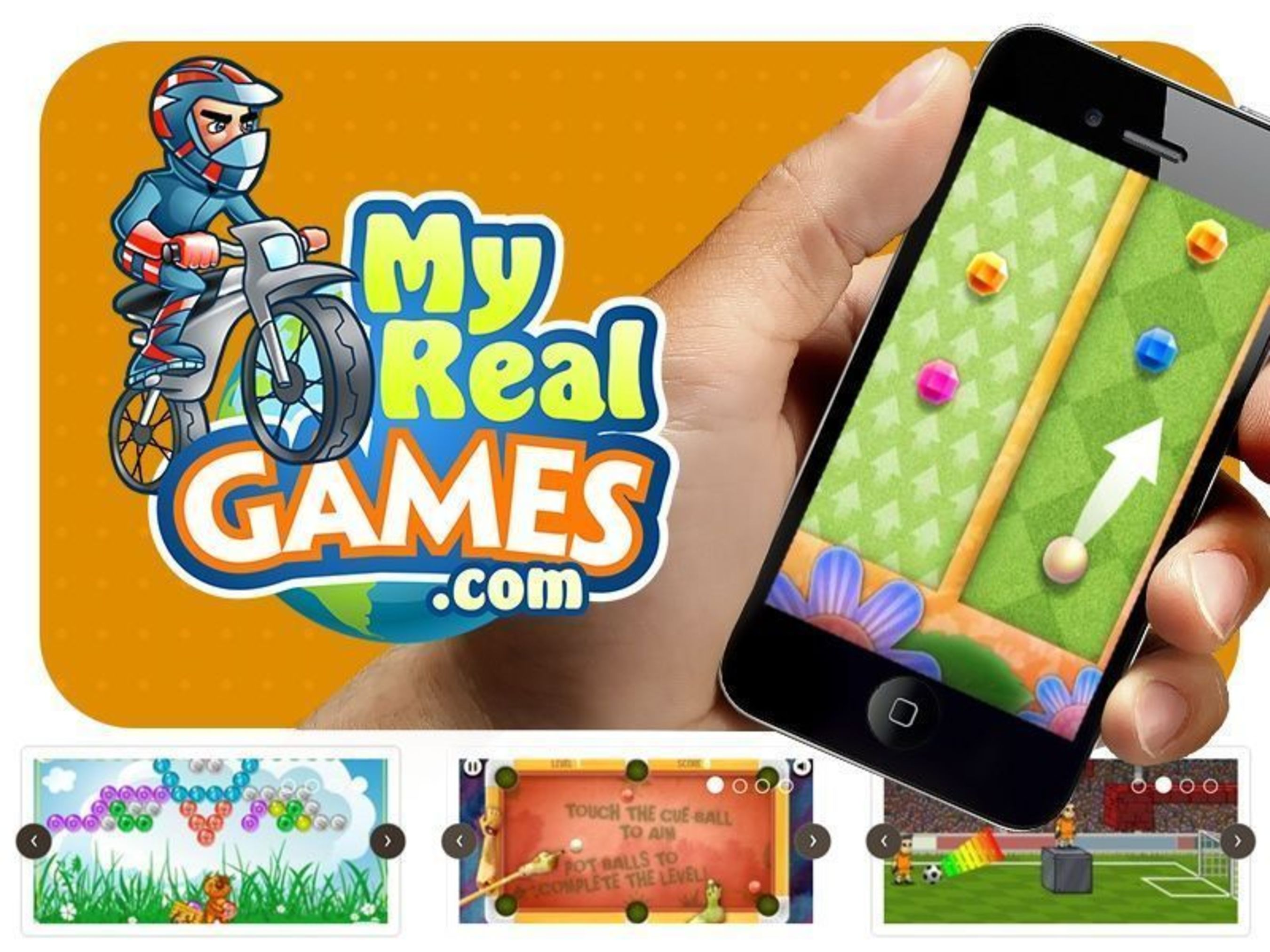 Mobile Online Games for Android, iPad and iPhone at MyRealGames (PRNewsFoto/MyRealGames_com)