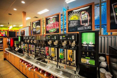 Coffee bar at Sheetz